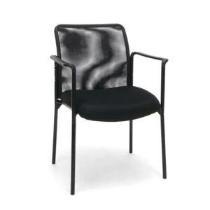 Ashley Furniture OFM Essentials ESS-8010 Upholstered Side Chair, Black