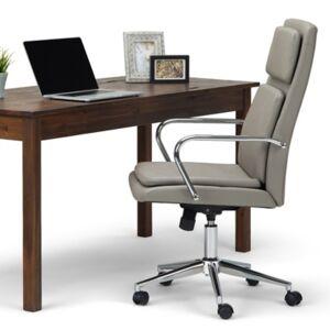 Ashley Furniture Simpli Home Swanson Swivel Executive Chair, Gray