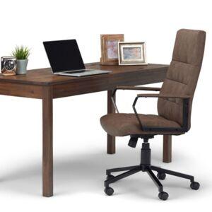 Ashley Furniture Simpli Home Foley Swivel Executive Chair, Brown