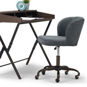 Ashley Furniture Simpli Home Sheehan Swivel Office Chair, Gray
