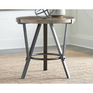 Ashley Furniture Zontini End Table, Light Brown