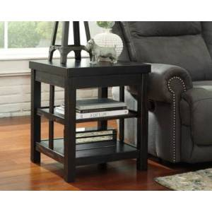 Ashley Furniture Gavelston End Table, Rubbed Black