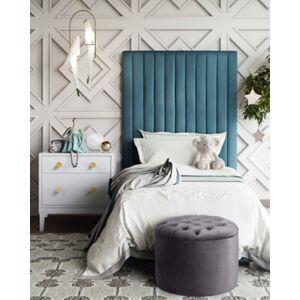 Ashley Furniture TOV Queen Grey Velvet Storage Ottoman Queen Gray Velvet Storage Ottoman, Gray