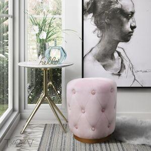 Ashley Furniture TOV Skylar Blush Velvet Ottoman Skylar Blush Velvet Ottoman, Pink