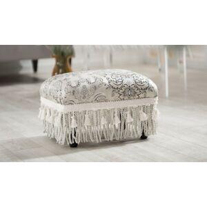 Ashley Furniture ACG Green Group, Inc. Traditional Decorative Ottoman, Silver