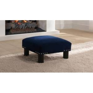 Ashley Furniture ACG Green Group, Inc. Square Accent Ottoman, Navy Blue