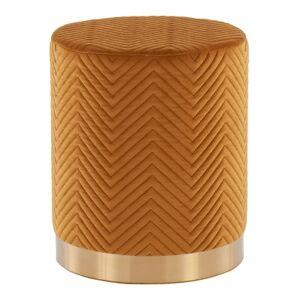 Ashley Furniture LumiSource Marla Chevron Ottoman, Gold