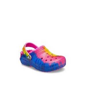 Crocs Classic Lined Clog Kids'   Girl's   Multicolor TieDye   Size 6 Youth   Clogs
