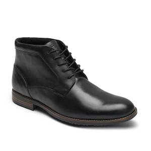 Rockport Mykel Chukka Boot   Men's   Black   Size 8   Boots   Chukka