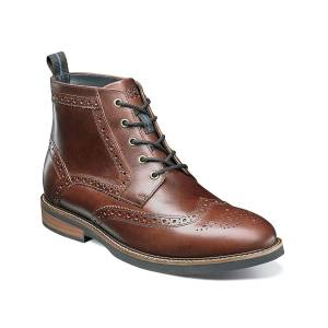 Nunn Bush Odell Wingtip Boot - Men's - Rust - Lace-Up Wingtip