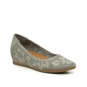 Baretraps Nixy Wedge Pump   Women's   Grey   Size 9.5