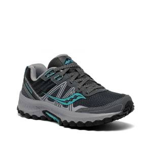 Saucony Excursion TR 14 Trail Running Shoe   Women's   Grey/Teal   Size 6.5   Athletic   Sneakers   Running