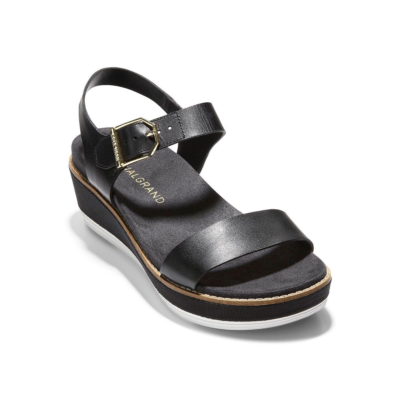 Cole Haan Original Grand Wedge Sandal   Women's   Black   Size 7.5   Sandals   Footbed   Slingback   Wedge
