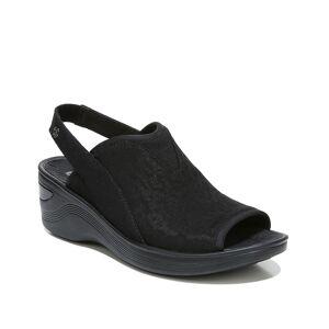 BZees Dakota Wedge Sandal   Women's   Black   Size 7.5   Sandals   Slingback   Wedge