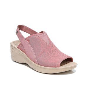 BZees Dakota Wedge Sandal   Women's   Light Pink   Size 9.5   Sandals   Slingback   Wedge