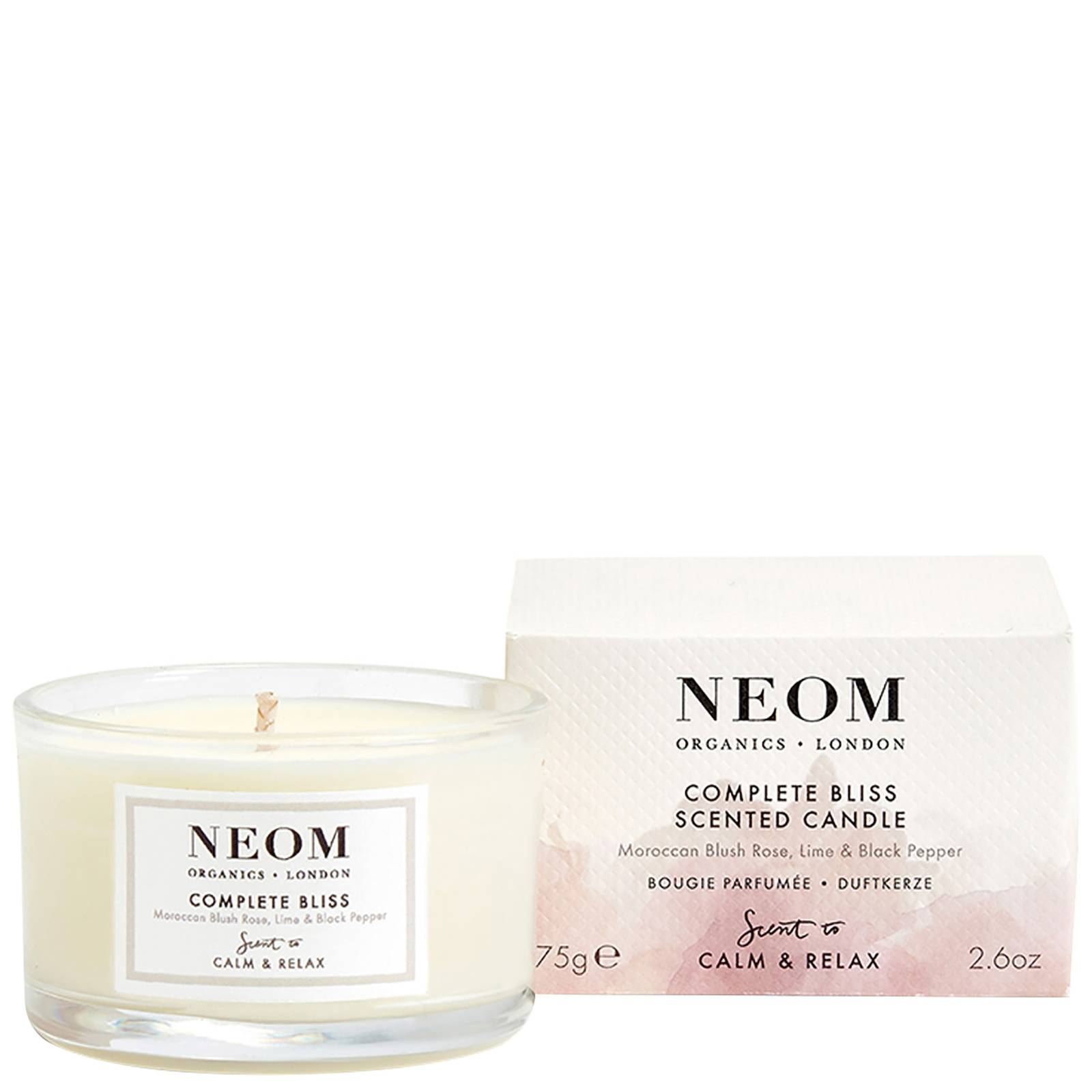Neom Organics London - Scent To Calm & Relax Complete Bliss Scented Candle (Travel) 75g  for Women