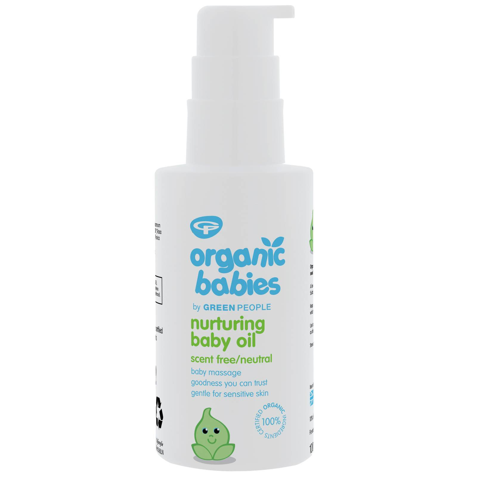 Green People - Organic Babies Nurturing Baby Oil Scent Free 100ml  for Women