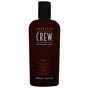 American Crew - Classic 3 in 1 - Shampoo, Conditioner and Body Wash 250ml  for Men
