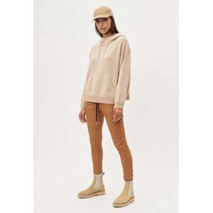 John Elliott - Women's Two Tone Cashmere Hoodie / Camel X Almond (Two Tone Cashmere Hoodie / Camel X Almond / 0 / X-Small)