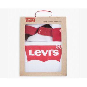 Levi's Baby 0-12M Levi's Logo Bodysuit Hat Bootie Gift Set - Girls XXL6  - White - Size: XXL6