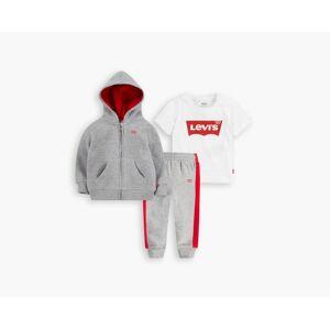 Levi's Boys Fleece Logo 3-Piece Set XXL16  - Grey Heather - Size: XXL16