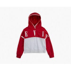 Levi's Girls 4-6x Sporty Pieced Hoodie 6X  - Tomato - Size: 6X