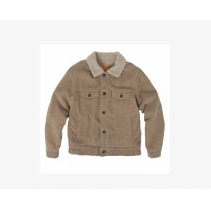 Levi's Boys 4-7x Sherpa Trucker Jacket 6  - Surplus Khaki - Size: 6