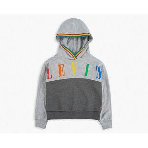 Levi's Girls (4-6x) Sporty Pieced Hoodie  - Light Grey Heather - Size: 6X