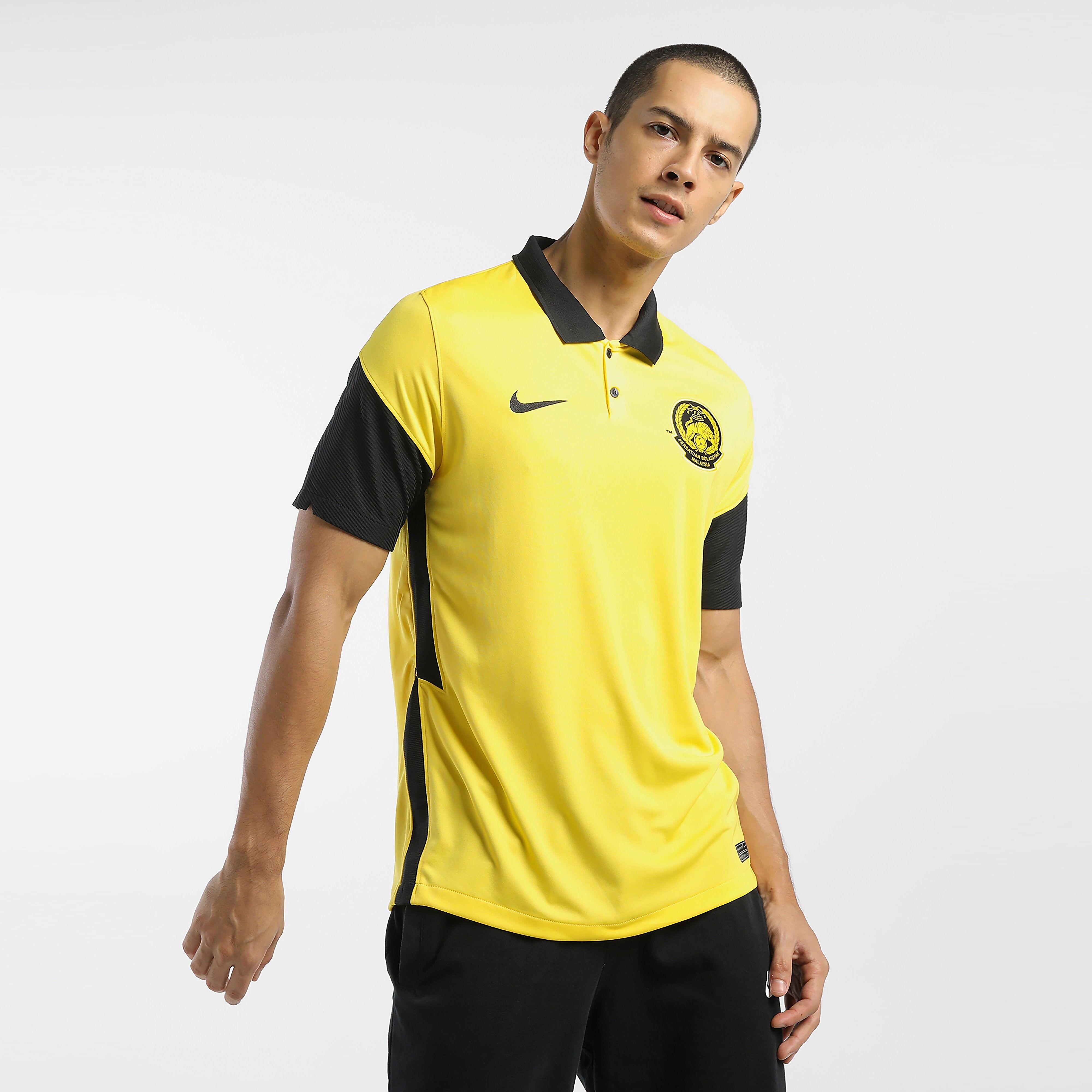 Nike Malaysia National Training Kit Home Jersey - Mens - YELLOW