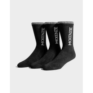 McKenzie 3 Pack Sports Socks Junior - Only at JD - Kids - Black/Grey