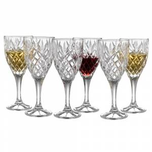 Galway Crystal Renmore Goblet Set of 6