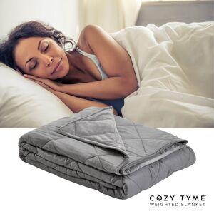 "Cozy Tyme Grey Front: 100% Polyester, Back: 100% Cotton Throws 6 Pound Calm Sleeping  - Grey - Size: 41"" x 60"""