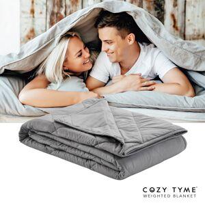"""Cozy Tyme Grey 100% Cotton Throws 6 Pound Calm Sleeping  - Grey - Size: 41"""" x 60"""""""