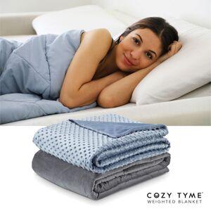 "Cozy Tyme Light Blue Duvet: 100% Polyester, Blanket: 100% Cotton Throws 6 Pound Calm Sleeping  - Light Blue - Size: 41"" x 60"""