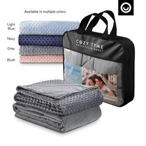"""Cozy Tyme Grey Duvet: 100% Polyester, Blanket: 100% Cotton Throws 6 Pound Calm Sleeping  - Grey - Size: 41"""" x 60"""""""