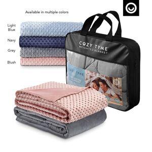 """Cozy Tyme Blush Duvet: 100% Polyester, Blanket: 100% Cotton Throws 6 Pound Calm Sleeping  - Blush - Size: 41"""" x 60"""""""