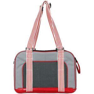 Pet Life ® 'Candy Cane' striped Fashion Designer Travel Pet Dog Carrier -
