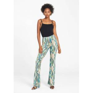 Alloy Apparel Tall Elana Printed Pants for Women in Mint Print Size L length 36   Polyester