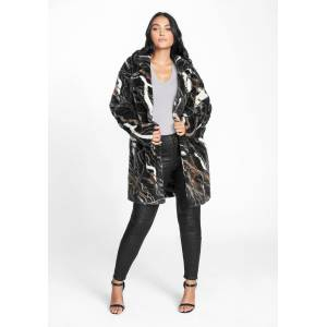 Alloy Apparel Tall Faux Fur Coat for Women Size S/M   Polyester
