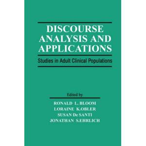 Psychology Press Discourse Analysis and ApplicationsStudies in Adult Clinical Populations