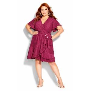 CITY CHIC DRESS SWEET LUV - Summer Punch - 20 / L