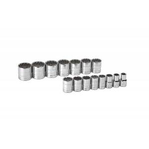 """GearWrench 80731 ½"""" Drive 12 Point Standard SAE Socket Set, 15 pieces"""