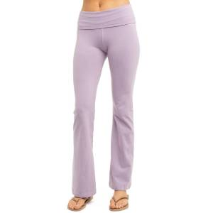 Hard Tail Forever Rolldown Bootleg Flare Pants - Lavender Moon - XL