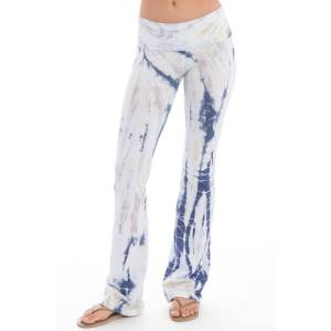 Hard Tail Forever Rolldown Bootleg Flare Pants - Two Time Spiral 4 - XL