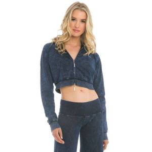 Hard Tail Forever Crop Double Zip Double Hoodie - Mineral Wash 8 - M