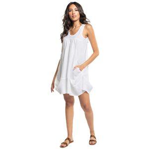 Hard Tail Forever Kawaii Linen Dress - White - L