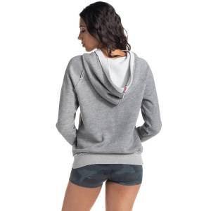 Hard Tail Forever Parker Pullover Hoodie - Heather Gray - L