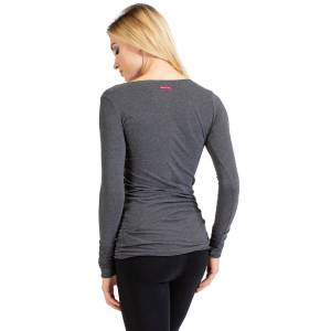 Hard Tail Forever Long Skinny T-Shirt - Dark Charcoal Heather Gray - M