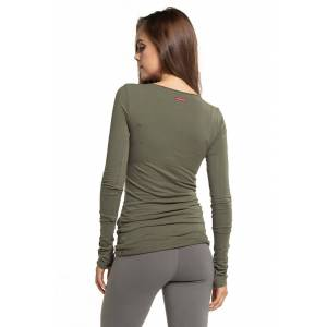 Hard Tail Forever Long Skinny T-Shirt - Olive Drab - XS