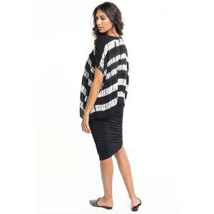Hard Tail Forever Shirred Poet Skirt - Black - L